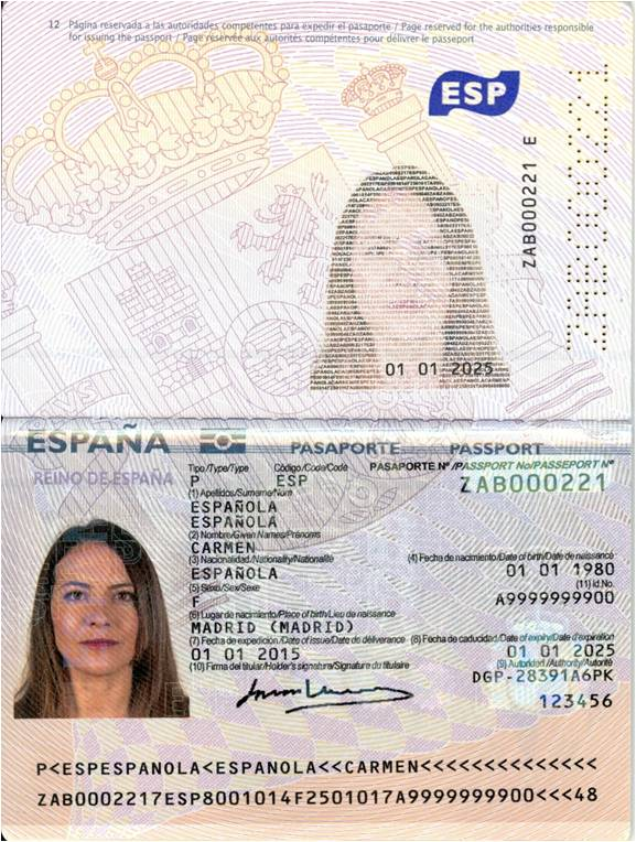 documentación del pasaporte