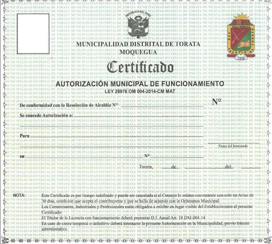 licencia municipal